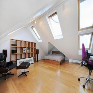 Office and bedroom loft