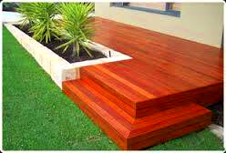 Timber Decking on Patio in Cape Town by STJ Joinery